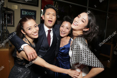 Exclusive - Juju Chan, Harry Shum Jr., Michelle Yeoh and Natasha Liu Bordizzo seen at the Los Angeles After-Premiere Party of Netflix original film 'Crouching Tiger, Hidden Dragon: Sword of Destiny', in Universal City, CA