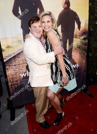Stock Image of David DeSanctis and Brooke Burns seen at Los Angeles Premiere of Roadside Attractions/Godspeed Pictures 'Where Hope Grows' at Arclight Cinemas Hollywood, in Los Angeles, CA