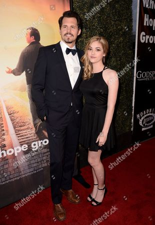 Kristoffer Polaha and McKaley Miller seen at Los Angeles Premiere of Roadside Attractions/Godspeed Pictures 'Where Hope Grows' at Arclight Cinemas Hollywood, in Los Angeles, CA