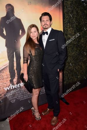 Julianne Morris and Kristoffer Polaha seen at Los Angeles Premiere of Roadside Attractions/Godspeed Pictures 'Where Hope Grows' at Arclight Cinemas Hollywood, in Los Angeles, CA