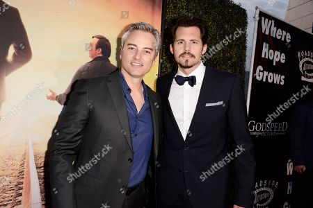Kerr Smith and Kristoffer Polaha seen at Los Angeles Premiere of Roadside Attractions/Godspeed Pictures 'Where Hope Grows' at Arclight Cinemas Hollywood, in Los Angeles, CA
