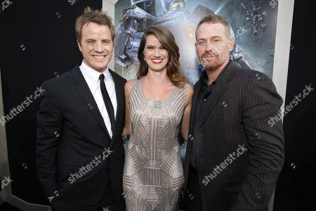 Robert Kazinsky, Heather Doerksen and Max Martini seen at the Los Angeles Premiere of Warner Bros Pictures and Legendary Pictures 'PACIFIC RIM', on Tuesday, July, 9, 2013 in Los Angeles