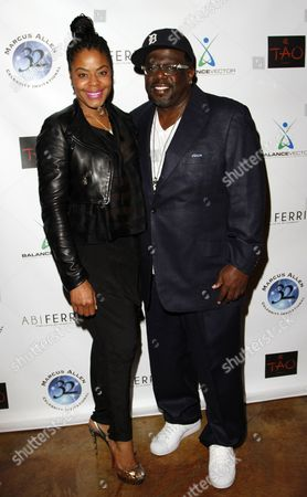 Lorna Kyles and actor and comedian Cedric the Entertainer attend Marcus Allen Foundation 2013 Celebrity Invitational Poker Tournament on Sunday, June 2nd, 2013 at Lucky Strike Hollywood in Los Angeles, California
