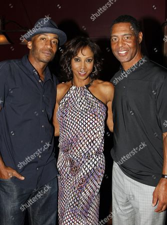 L-R) James Lesure, Holly Robinson Peete and Marcus Allen attend Marcus Allen Foundation 2013 Celebrity Invitational Poker Tournament on Sunday, June 2nd, 2013 at Lucky Strike Hollywood in Los Angeles, California