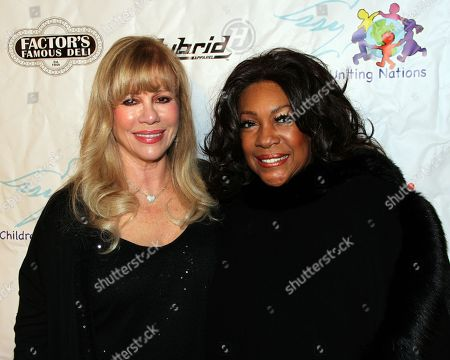 CUN founder Daphna Ziman and R&B legend Mary Wilson arrive at Mary Wilson Original Supreme Children Uniting Nations Benefit Concert on Sunday, December, 16, 2012, at Saban Theatre in Beverly Hills, California