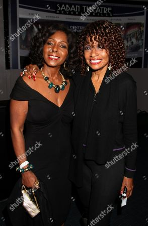 Stock Image of Actors Judy Pace and Beverly Todd pose at Mary Wilson Original Supreme Children Uniting Nations Benefit Concert on Sunday, December, 16, 2012, at Saban Theatre in Beverly Hills, California