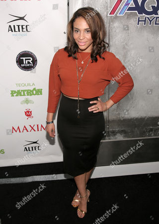 Stock Picture of Actress Erica Dickerson attends the Maxim Magazine Super Bowl Party on in New York
