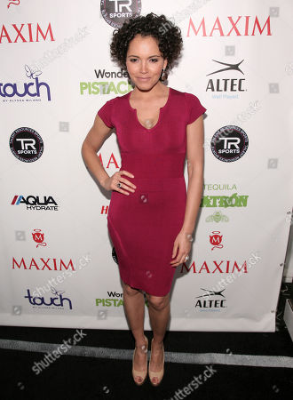 Television personality Susie Castillo attends the Maxim Magazine Super Bowl Party on in New York