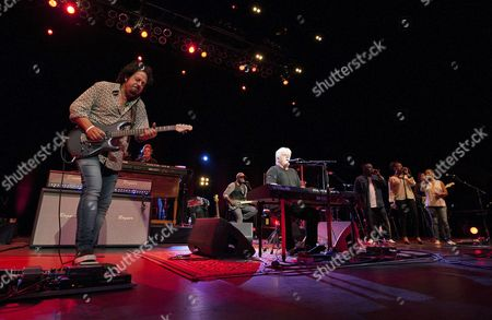 Stock Photo of Steve Lukather, Tommy Simms, Michael McDonald, Mabvuto Carpenter and Jenny Douglas performed as part of the Michael McDonald and Toto co-headlining tour at the Fox Theatre, in Atlanta, Ga