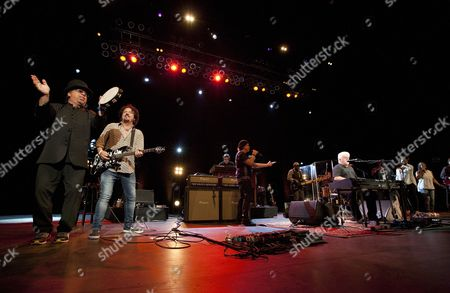 David Paich, Steve Lukather, Joseph Williams, Tommy Simms and Michael McDonald performed as part of the Michael McDonald and Toto co-headlining tour at the Fox Theatre, in Atlanta, Ga