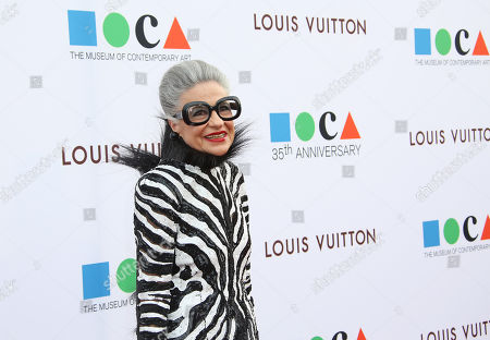 Stock Image of Joy Venturini Bianchi arrives at MOCA's 35th Anniversary Gala presented by Louis Vuitton at The Geffen Contemporary at MOCA on in Los Angeles