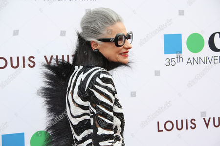 Joy Venturini Bianchi arrives at MOCA's 35th Anniversary Gala presented by Louis Vuitton at The Geffen Contemporary at MOCA on in Los Angeles
