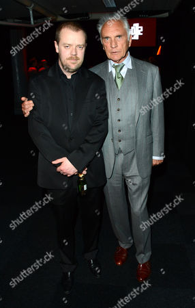Paul Andrew Williams and Terence Stamp arrive at the Moet British Independent Film Awards 2012 - Inside Arrivals at Old Billingsgate Market on in London