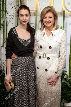 Isabella Huffington, left, and Arianna Huffington, right, attend the Party in the Garden at The Museum of Modern Art, in New York