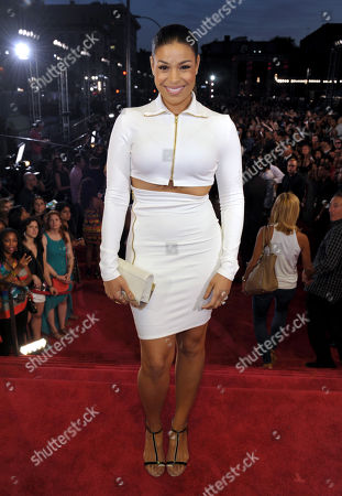 Jordan Sparks arrives at the MTV Video Music Awards at Barclays Center, in the Brooklyn borough of New York