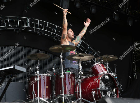 Louis Vecchio with New Politics performs during Music Midtown 2015 at Piedmont Park, in Atlanta