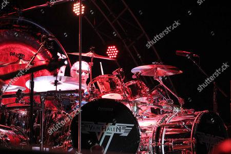 Alex Van Halen with Van Halen performs during Music Midtown 2015 at Piedmont Park, in Atlanta