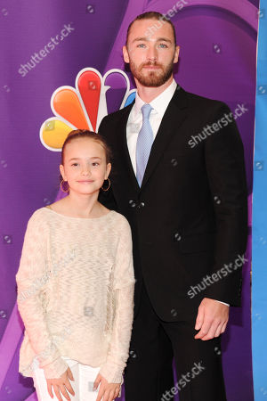 Actors Johnny Sequoyah, left, and Jake McLaughlin attend the NBC Network 2013 Upfront at Radio City Music Hall on in New York