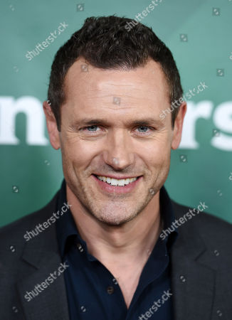 """Jason O'Mara, a cast member in the USA series """"Complications,"""" poses at the NBCUniversal Cable 2015 Winter TCA Press Tour at The Langham Huntington Hotel, in Pasadena, Calif"""