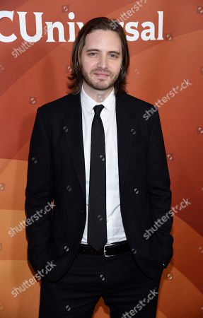 """Aaron Stanford, a cast member in the Syfy television series """"12 Monkeys,"""" poses at the NBCUniversal Cable 2015 Winter TCA Press Tour at The Langham Huntington Hotel, in Pasadena, Calif"""