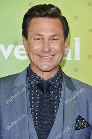 Grant Bowler arrives at the NBC Universal Summer Press Day, in Pasadena, Calif