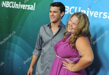 Stock Photo of Lily Mae Harrington and Michael Weismann attend the second day of NBCUniversal's 2012 Summer Press Tour at the Beverly Hilton Hotel, in Beverly Hills, Calif