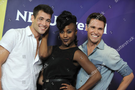 Kyle Robinson, Taja Riley and Nick Lazzarini attend the second day of NBCUniversal's 2012 Summer Press Tour at the Beverly Hilton Hotel, in Beverly Hills, Calif