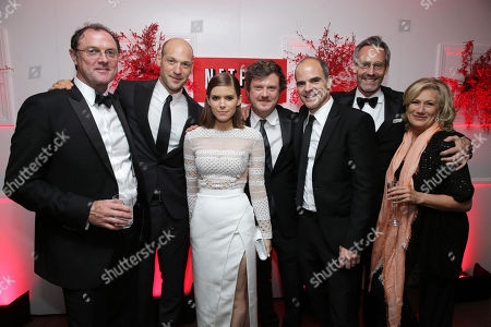 Boris McGiver, Corey Stoll, Kate Mara, Beau Willimon, Michael Kelly, Michel Gill and Jayne Atkinson seen at the Netflix Emmy Party, on Sunday, Sep, 22, 2013 in Los Angeles