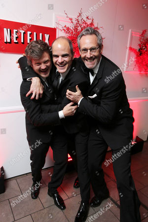 Beau Willimon, Michael Kelly and Michel Gill seen at the Netflix Emmy Party, on Sunday, Sep, 22, 2013 in Los Angeles