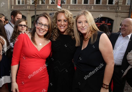 """Producer Dana Fox, Director Anne Fletcher and Producer Bruna Papandrea seen at the New Line Cinema and Metro-Goldwyn-Mayer Premiere of """"Hot Pursuit"""", in Los Angeles"""