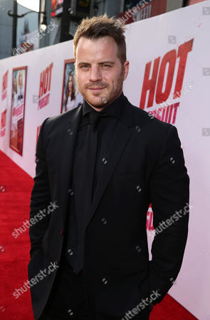 """Robert Kazinsky seen at the New Line Cinema and Metro-Goldwyn-Mayer Premiere of """"Hot Pursuit"""", in Los Angeles"""