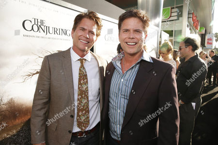 Writers Carey Hayes and Chad Hayes seen at New Line Cinema's 'The Conjuring' Premiere, on Monday, July, 15, 2013 in Los Angeles