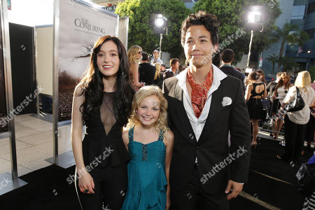 Hayley McFarland, Kyla Deaver and Shannon Kook seen at New Line Cinema's 'The Conjuring' Premiere, on Monday, July, 15, 2013 in Los Angeles
