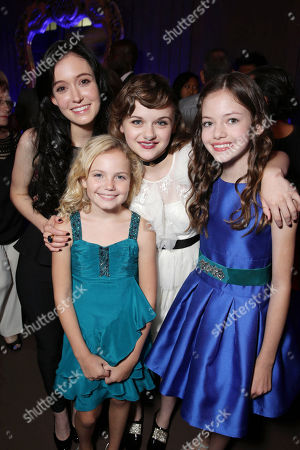 Stock Picture of Hayley McFarland, Kyla Deaver, Joey King and Mackenzie Foy seen at New Line Cinema's 'The Conjuring' Premiere, on Monday, July, 15, 2013 in Los Angeles
