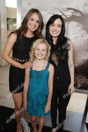 Stock Photo of Shanley Caswell, Kyla Deaver and Hayley McFarland seen at New Line Cinema's 'The Conjuring' Premiere, on Monday, July, 15, 2013 in Los Angeles