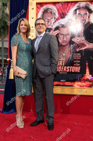Stock Picture of Nancy Walls and husband Steve Carell at New Line Cinema's World Premiere of 'The Incredible Burt Wonderstone' held at Grauman's Chinese Theatre on Monday, Mar., 11, 2013 in Los Angeles