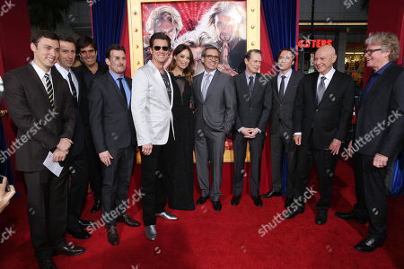 Stock Image of Writer John Francis Daley, Writer Jonathan M. Goldstein, David Copperfield, Producer Chris Bender, Jim Carrey, Olivia Wilde, Steve Carell, Steve Buscemi, Michael 'Bully' Herbig, Alan Arkin and Director Don Scardino at New Line Cinema's World Premiere of 'The Incredible Burt Wonderstone' held at Grauman's Chinese Theatre on Monday, Mar., 11, 2013 in Los Angeles