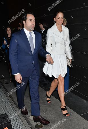 Stock Image of Model Veronica Webb and fiance Chris Del Gatto attend the New Yorkers For Children annual Spring benefit at the Mandarin Oriental on in New York