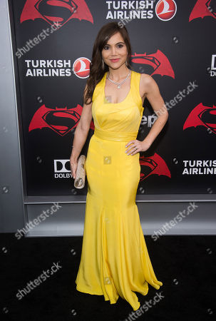 """Christina Wren attends the premiere of """"Batman v Superman: Dawn of Justice"""" at Radio City Music Hall on Sunday, March, 20, 2016, in New York"""