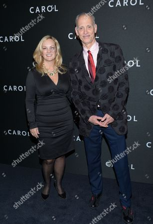 """Stock Photo of Patricia Hearst and John Waters attend the premiere of """"Carol"""" at the Museum of Modern Art, in New York"""