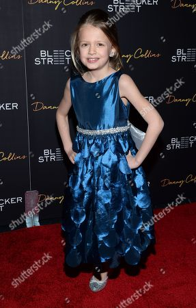 """Giselle Eisenberg attends the premiere of """"Danny Collins"""" at AMC Lincoln Square, in New York"""