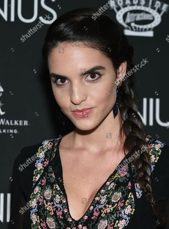 """Stock Photo of Elena Rusconi attends the premiere of """"Genius"""" at the Museum of Modern Art, in New York"""