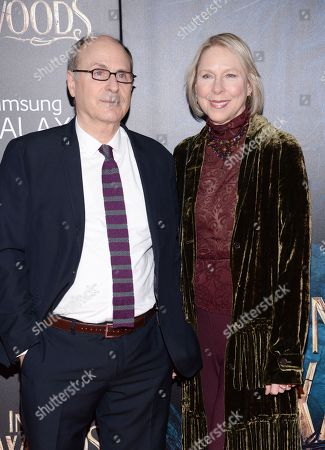 "Screenwriter James Lapine and wife Sarah Kernochan attend the premiere of ""Into The Woods"" at the Ziegfeld Theatre, in New York"