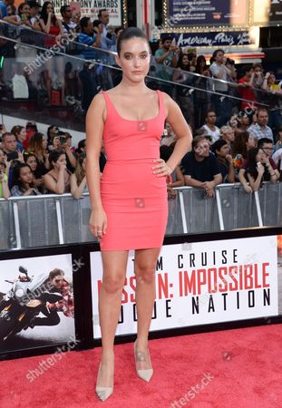 "Alaia Baldwin attends the premiere of ""Mission: Impossible - Rogue Nation"" in Times Square, in New York"