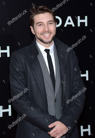 "Actor Roberto Aguire attends the premiere of ""Noah"" at the Ziegfeld Theatre on in New York"