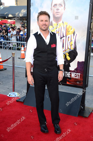"Aaron McPherson arrives at the NY Premiere of ""The Normal Heart"", in New York"