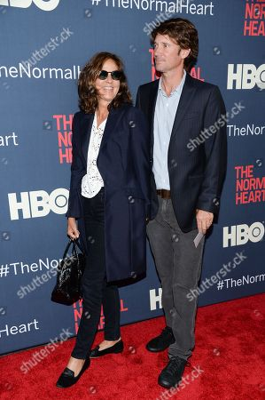 """Kelly Klein and Nick Manifold attend the premiere of HBO Films' """"The Normal Heart"""" at the Ziegfeld Theatre, in New York"""