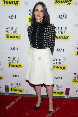 """Maria Dizzia attends the premiere of """"While We're Young"""" at the Paris Theatre, in New York"""