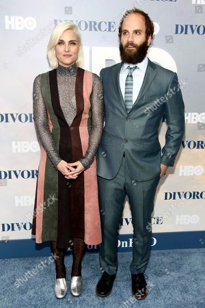 """Stock Picture of Katja Blichfeld, left, and Ben Sinclair, right, attend the premiere of HBO's """"Divorce"""" at the SVA Theatre, in New York"""
