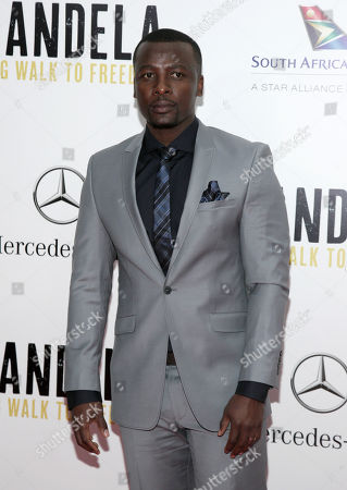 "Actor Tony Kgoroge attends the New York premiere of ""Mandela: Long Walk To Freedom"" on in New York"